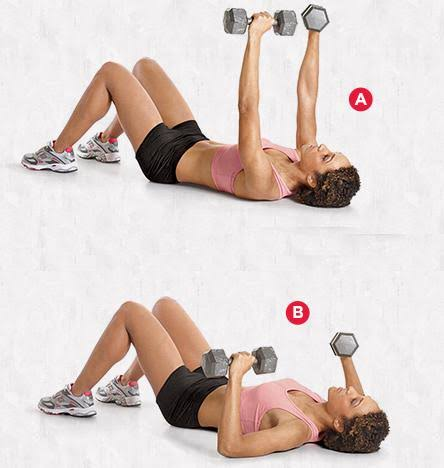 Image result for Dumbbell Floor Press""