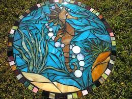petey the mosaic seahorse