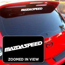 Mazdaspeed Miata Mazda 3 6 Protege Rx8 Vinyl Window Decals Stickers Zoom Zoom 2 15 Picclick