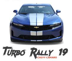 2019 2020 Chevy Camaro Racing Stripes Turbo Rally 19 Hood Decals Bumper To Bumper Vinyl Graphics Kit Chevy Camaro Racing Stripes Camaro