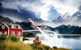 norway aviation hd nature 4k