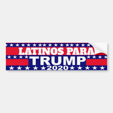Latinos Trump Bumper Stickers Decals Car Magnets Zazzle