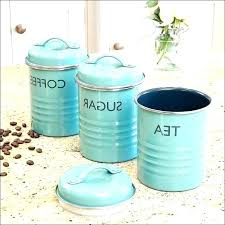 blue kitchen canister sets blue glass