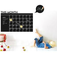This Month Calendar Vinyl Blackboard Sticker Chalkboard Wall Decals For Kids Room Sale Price Reviews Gearbest