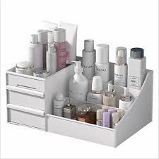 makeup dresser table skin care rack