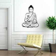 Wall Sticker Meditating Buddha Vinyl Decal Diy Removable Art Mural Home Decor Buy At The Price Of 6 46 In Newchic Com Imall Com