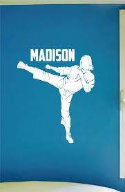 Girls Custom Name Martial Arts Wall Decal 0432 Personalized Girls Ka Wall Decal Studios Com