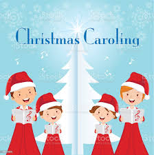 Family Christmas Caroling Stock Illustration - Download Image Now - iStock
