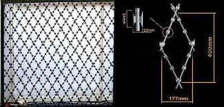 Razor Mesh Security Fence And Wire Mesh Plus Razor Wire Security Fence