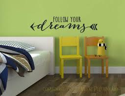 Follow Your Dreams Inspirational Wall Decal With Arrows
