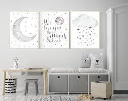 Moon Nursery Decor Etsy