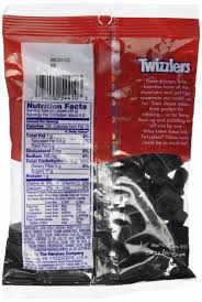 black licorice nibs nutrition facts