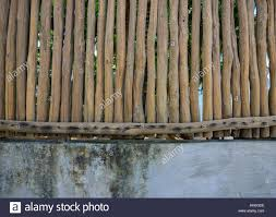 Wooden Fence With Stone Wall At The Eco Resort In Coron Island Stock Photo Alamy