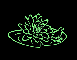 Lily Pad Frog Decal Floral Decal Lily Pad Decal Frog Decal Custom Vinyl Computer Laptop Car Auto Vehicle Window De Lily Pads Truck Window Stickers Custom Vinyl