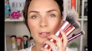 brush set natural makeup tutorial