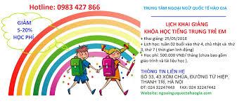 Tiếng Trung trẻ em chất lượng tại Thanh Trì, Hà Nội