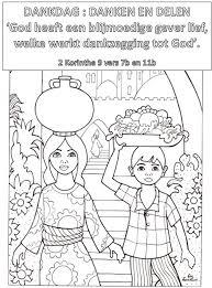 Dankdag Kleurplaat Danken Delen 4 11 Jaar Bijbels Opvoeden Nl