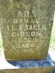 Ada Gibson (1910-1910) - Find A Grave Memorial