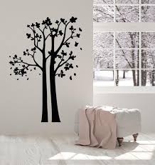 Vinyl Wall Decal Trees Wood Abstract Nature Branch Leaves Room Art Sti Wallstickers4you