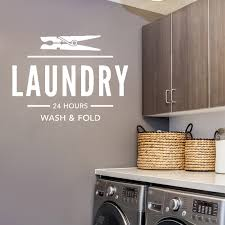 Wall Decal Quote Laundry 24 Hours Wash Fold Laundry Room Decal Laundry Wall Decal Laundry Sign Waterproof Ly24 Wall Stickers Aliexpress