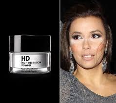 white powder on celebrity faces
