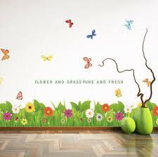 Flower Grass Removable Baseboard Wall Art Sticker Vinyl Decal Room Home Decor Ebay