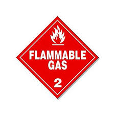 Red Diamond Flammable Gas 2 Sticker Decal Business Safety Decal Size 4 X 4 Inch Walmart Com Walmart Com