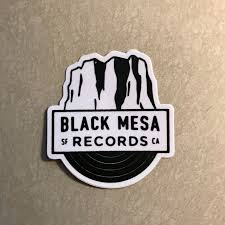 Black Mesa Sf Ca Logo Sticker Black Mesa Records