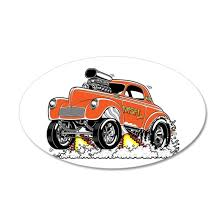 Misfit 41 Willys Gasser Wall Decal By Screamnjimmy Cafepress