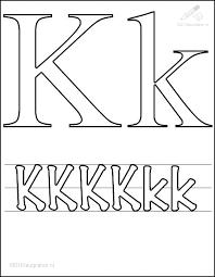 1001 Kleurplaten Tekens Letters Kleurplaat Letter K