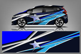 Car Decal Wrap Design Vector Graphic Abstract Stripe Racing Background Kit Designs For Vehicle Race Car Rally Adventure And Li Ilustracao Do Vetor Ilustracao De Race Decal 143006817