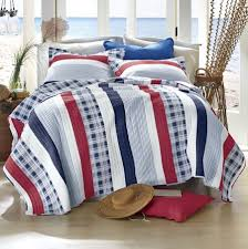 navy blue striped boys bedding twin