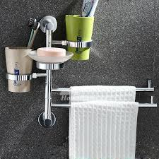 wall mount bathroom towel racks chrome