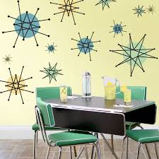 A Little Dramatic And Over The Top But I Love It Atomic Starburst Franciscan Style Large Decal Sheet Wall De Retro Decor Retro Home Retro Home Decor