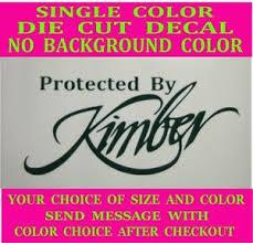 Protected By Kimber Die Cut Vinyl Window Decal Car Truck Laptop Sticker Ebay