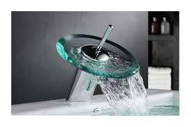glass chrome waterfall style bathroom