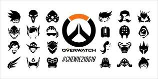Overwatch Hero Symbols Personalized Vinyl Wall Decal Sticker Decals By Droids