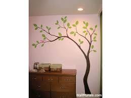 Simple Tree Mural Tree Wall Murals Nursery Wall Painting Wall Murals