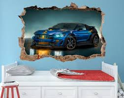 Ford Mustang Decal Ford Mustang Vinyl Sticker Ford Wall Decal Etsy