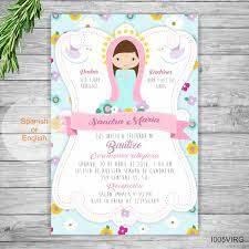 Invitaciones Para Bautizo Nina Bautismo Espanol Imprimibles Virgen Bebe Bautizo Espanol Virgen Invitaciones Invitacion Bautizo Nina Invitaciones Bautizo Tarjetas De Bautizo Nina