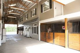 horse barn stables home with living