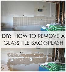 remove a glass tile backsplash