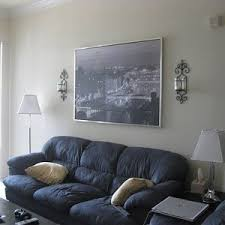blue gray couch
