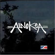 Ainokea Aloha Hawaii Window Decal Sticker Custom Sticker Shop Car Decals Stickers Window Decals Decals Stickers