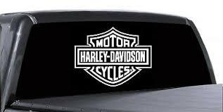 Harley Davidson Rear Window Decal Truck Car Trailer White 13 X 10 Ebay
