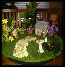 charming large dish fairy garden with