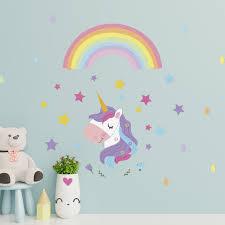 Zoomie Kids Magical Unicorn Rainbow Wall Decal Reviews Wayfair