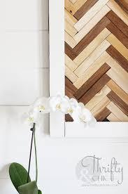 diy herringbone wall art using wood