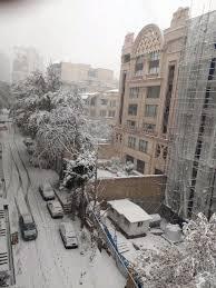 Rara tormenta di neve a Teheran, Iran - MeteoGiornale.it