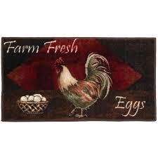 vintage rooster kitchen washable